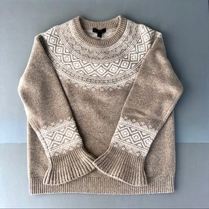 J Crew fair isle sweater. NWT